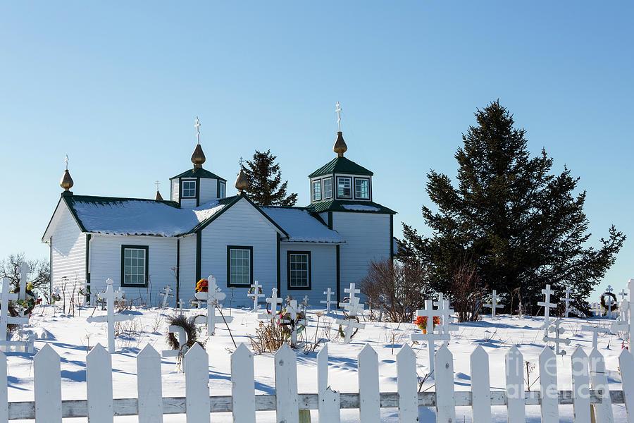 Aleut Photograph - Russian Orthodox Church Ninilchik Alaska by Louise Heusinkveld