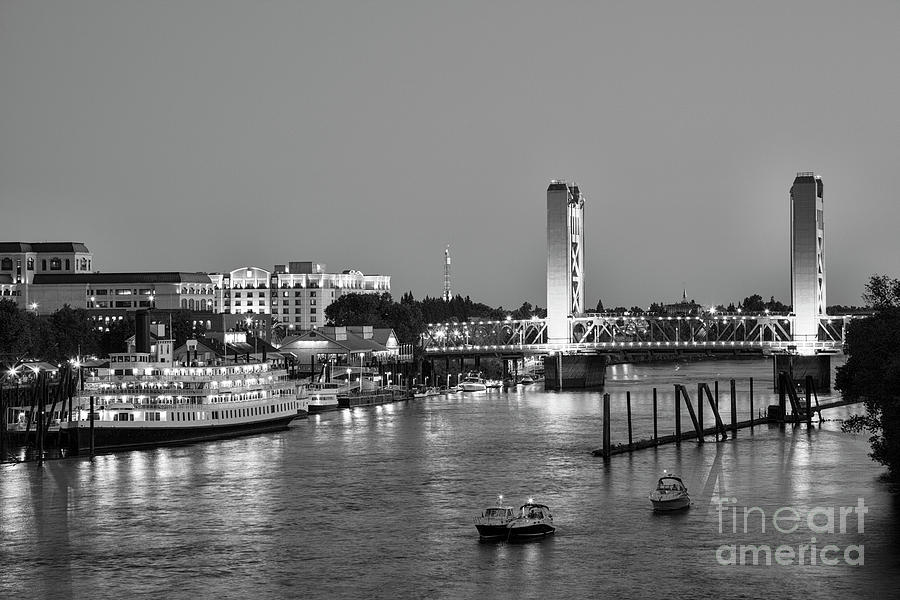 Sacramento River and Tower Bridge at dusk by Ken Brown
