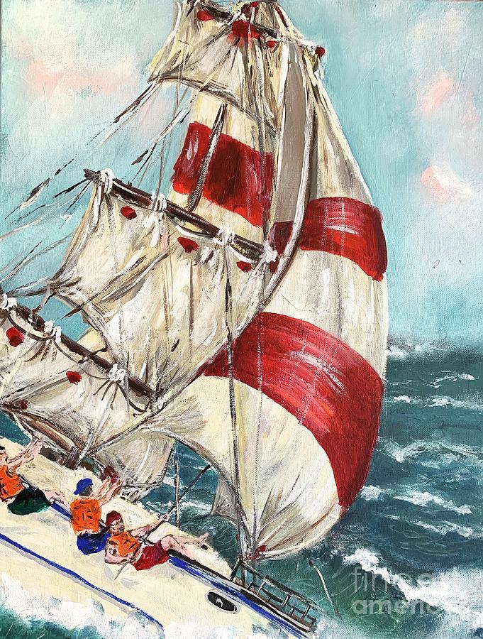 sailing by Miroslaw  Chelchowski