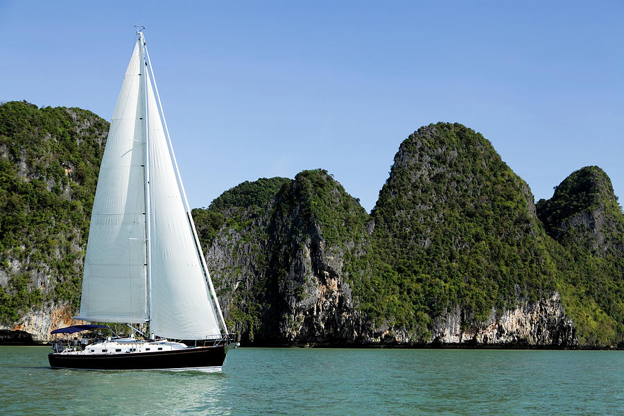 Sailing Sailboat Phuket Province Phang Photograph by Laughingmango