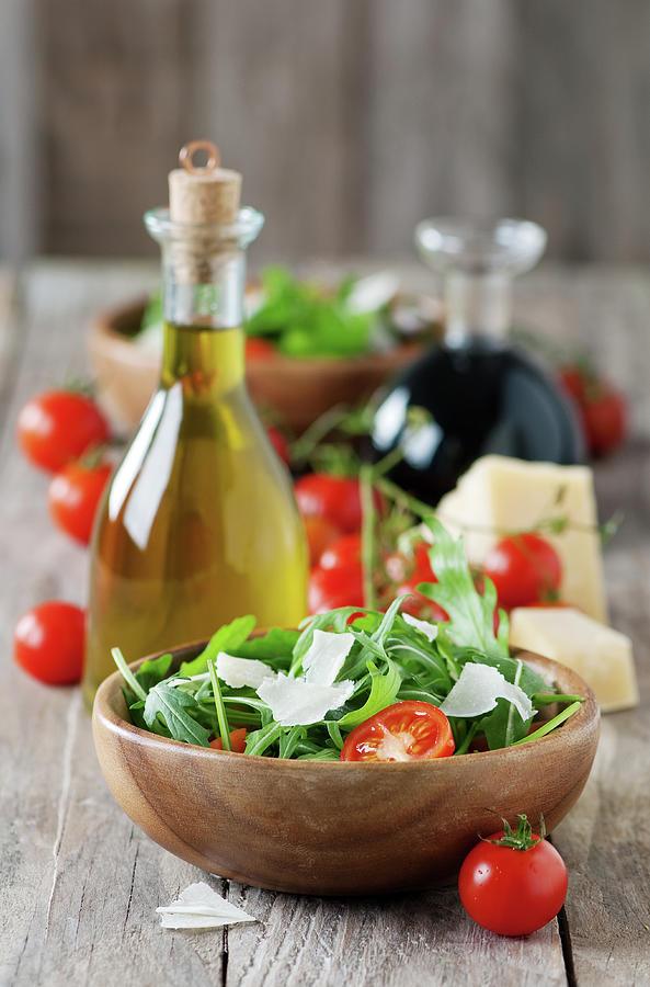 Salad With Arugula Photograph by Oxana Denezhkina