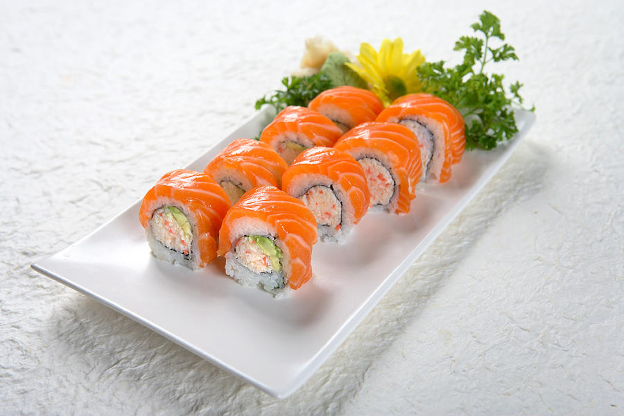 Salmon Roll Photograph by Whitewish
