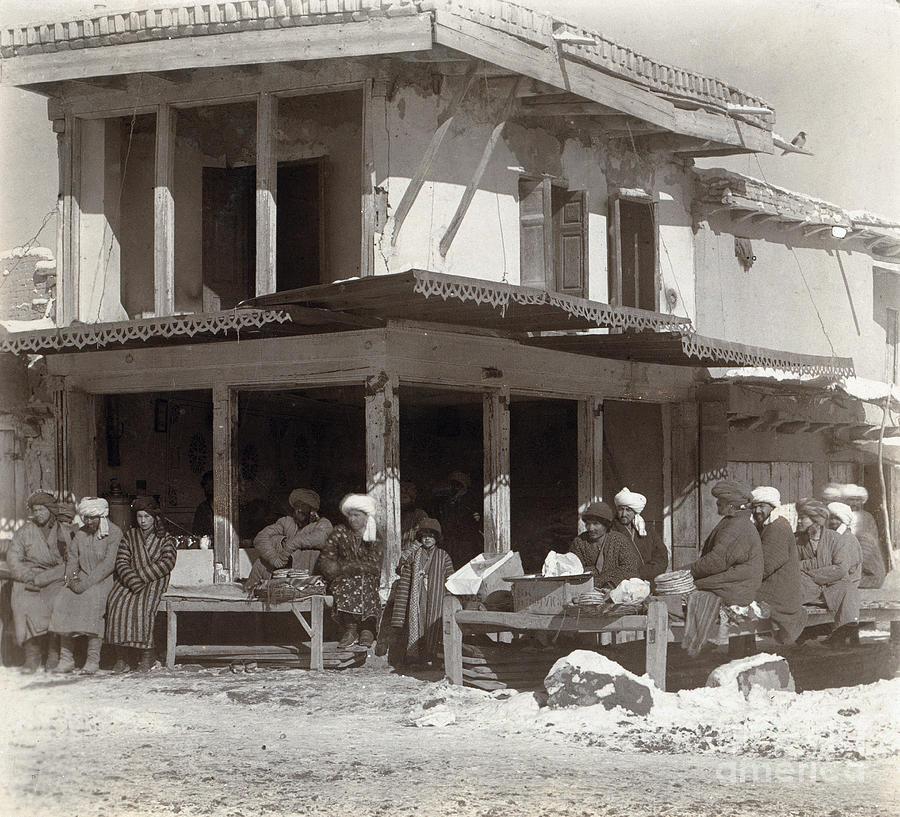 SAMARKAND TEA HOUSE by Sergei Prokudin Gorskii