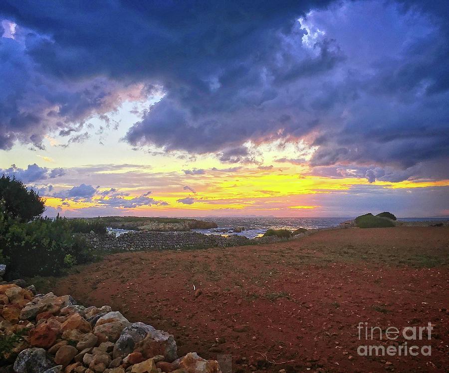 San Adeodato Sunset by Dee Flouton