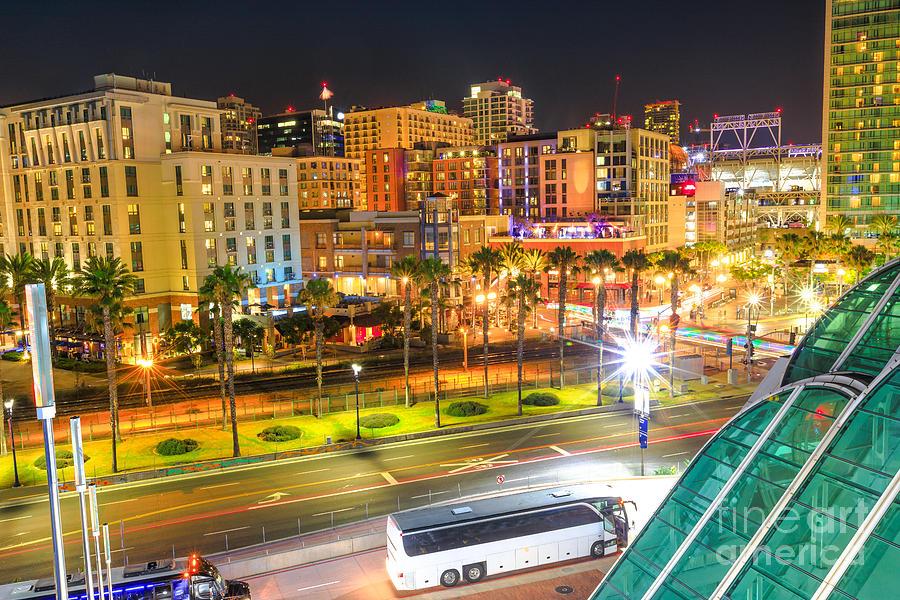 San Diego skyline aerial by Benny Marty