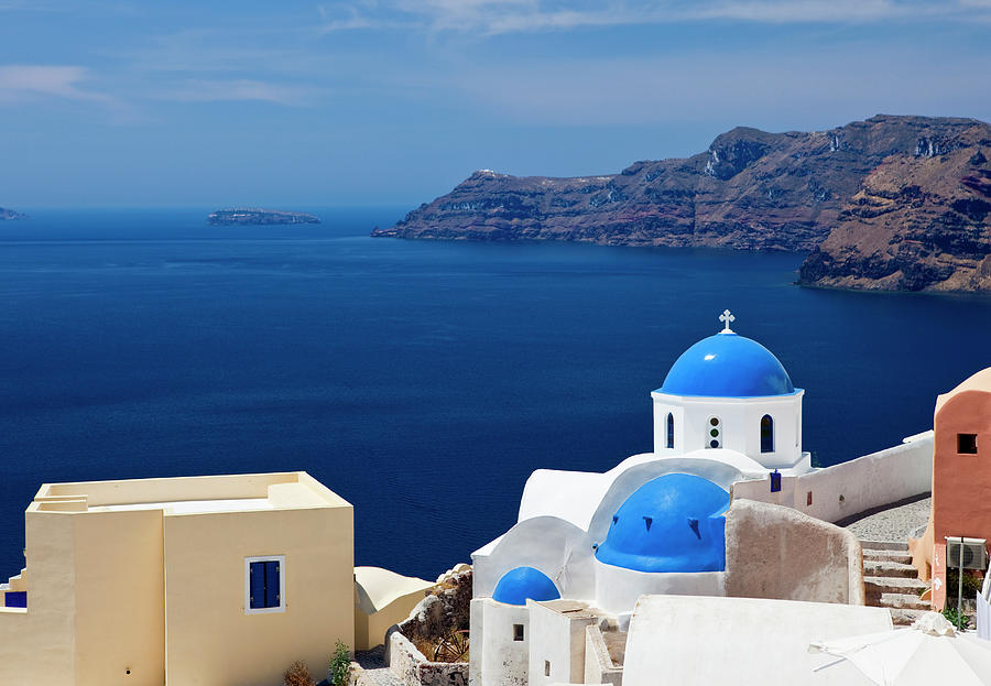 Santorini Famous Church Photograph by Mbbirdy