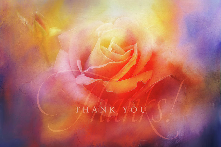 Texture Digital Art - Saying Thank You by Terry Davis