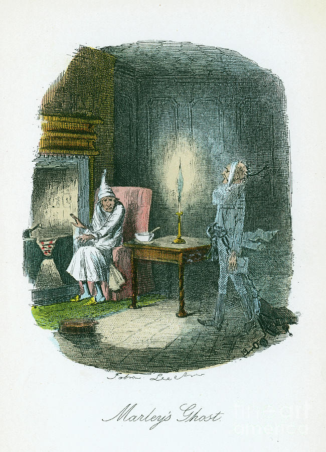 Scene From A Christmas Carol By Charles Drawing by Print Collector