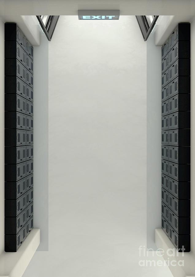 Locker Digital Art - School Locker Exit Way 1 by Allan Swart