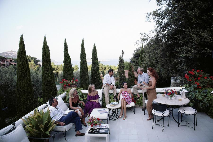 Scio Family Villa Photograph by Slim Aarons