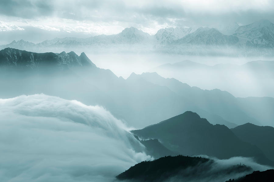 Sea Of Clouds Photograph by 4x-image
