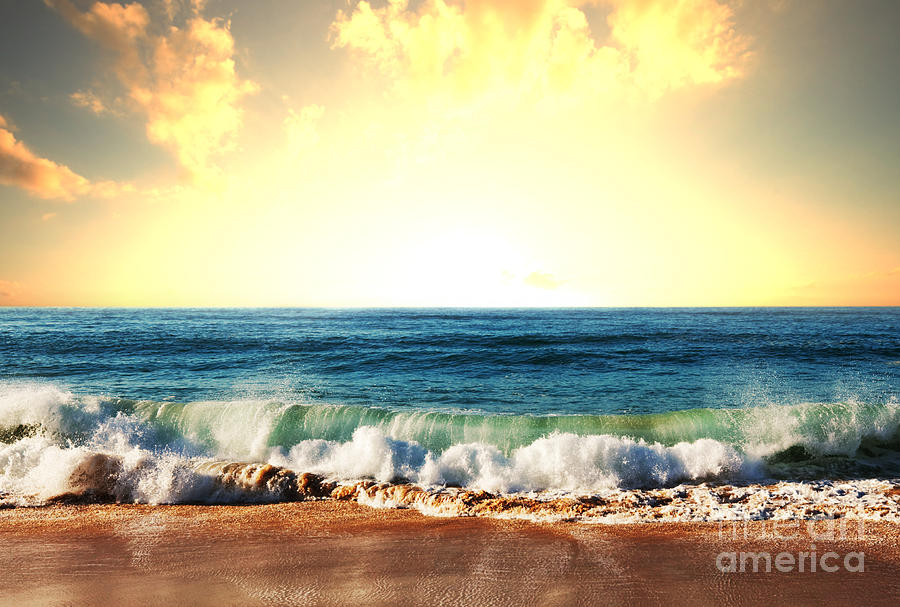 Landscapes Photograph - Sea Sunset by Galyna Andrushko