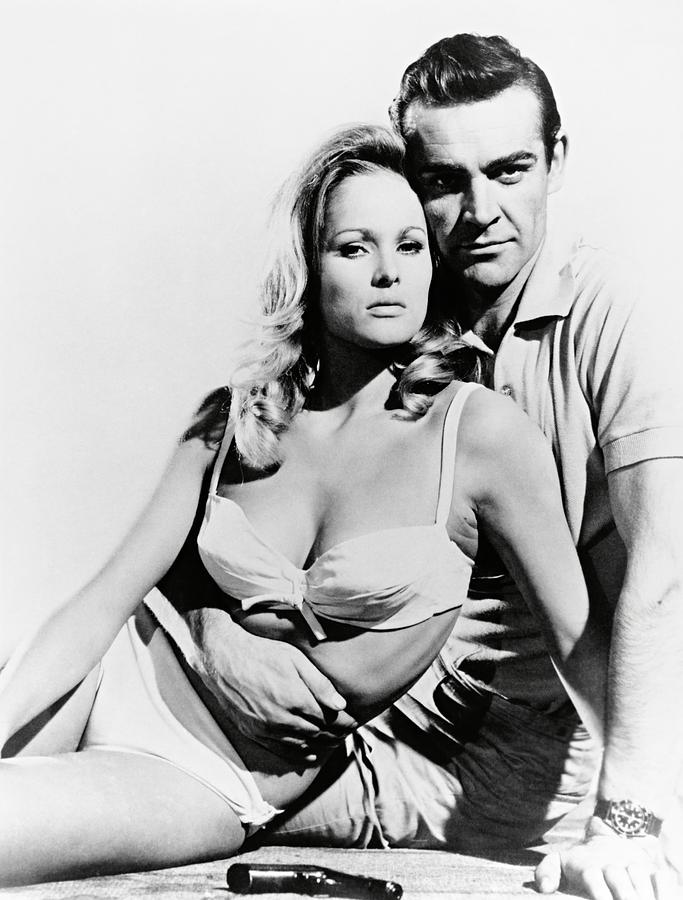 Ursula Andress Dr No James Bond Poster Connery hands