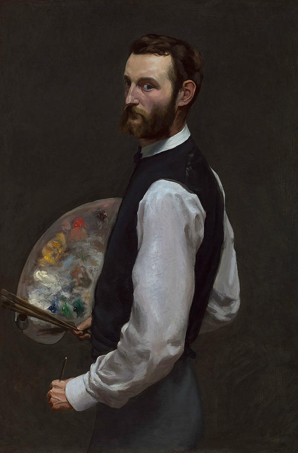 French Painters Painting - Self-portrait 1 by Frederic Bazille