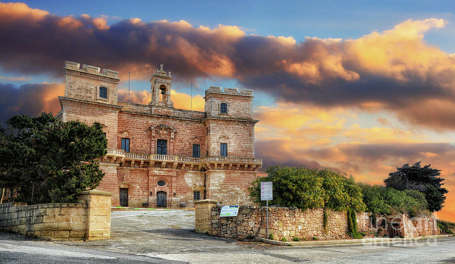 Selmun Palace at sunrise, in Malta by Stephan Grixti