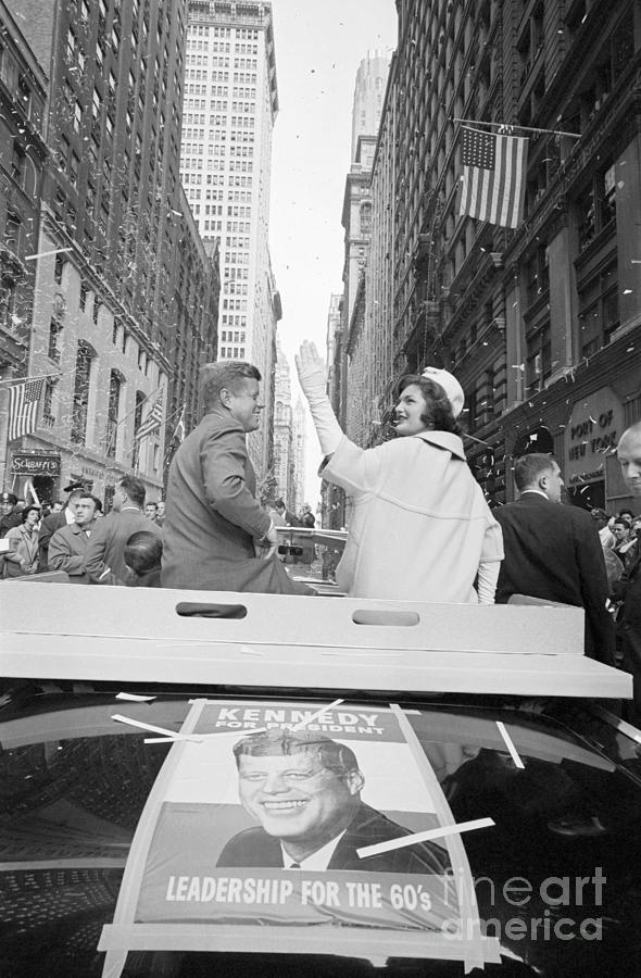 Senator John Kennedy And Jackie Kennedy Photograph by Bettmann