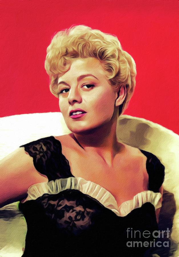 Shelley Winters, Vintage Actress Painting