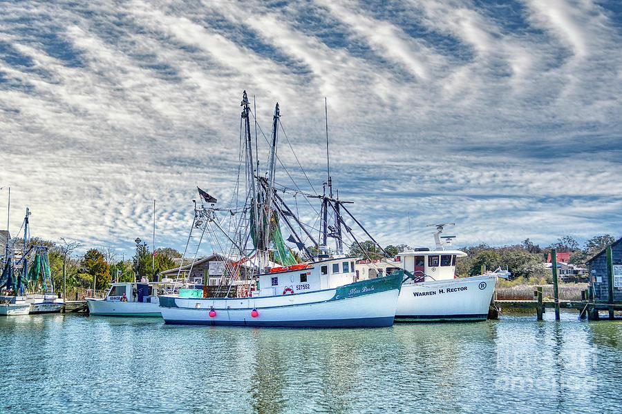 Shem Creek Shrimp Boats by Kathy Baccari