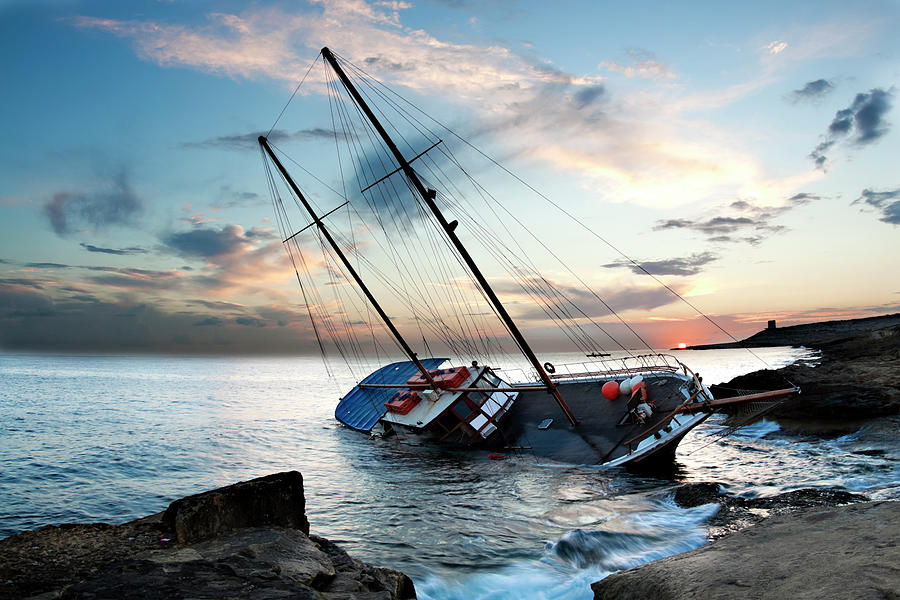 Shipwreck Photograph by Edwardmallia
