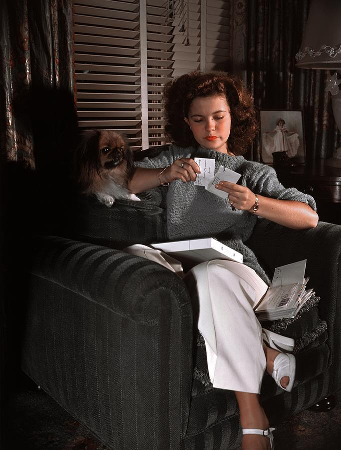 People Photograph - Shirley Temple At Home by Earl Theisen Collection