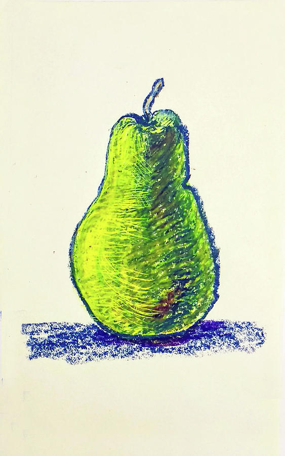 Single Pear Drawing