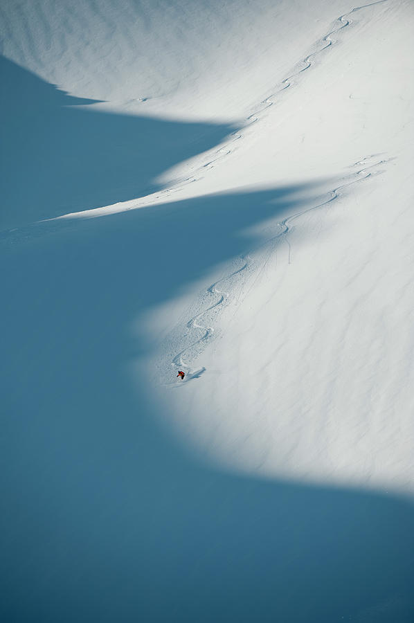 Ski Guide At Work Photograph by Topher Donahue
