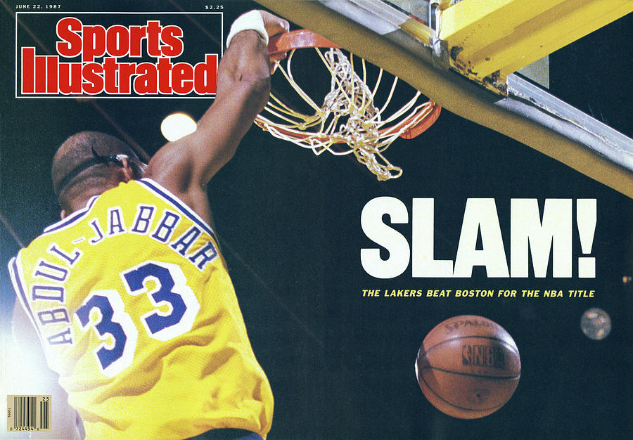 Slam The Lakers Beat Boston For The Nba Title Sports Illustrated Cover Photograph by Sports Illustrated