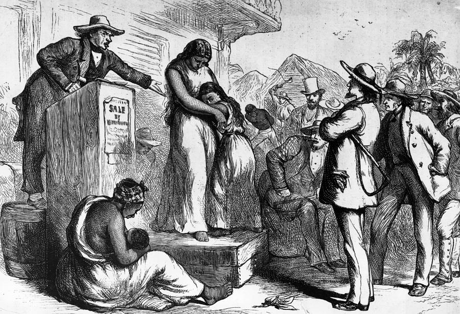 Slave Auction Photograph by Rischgitz