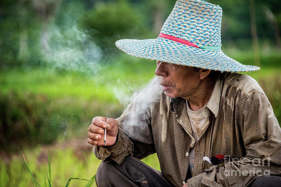 Smoke Break in the fields by Lee Craker