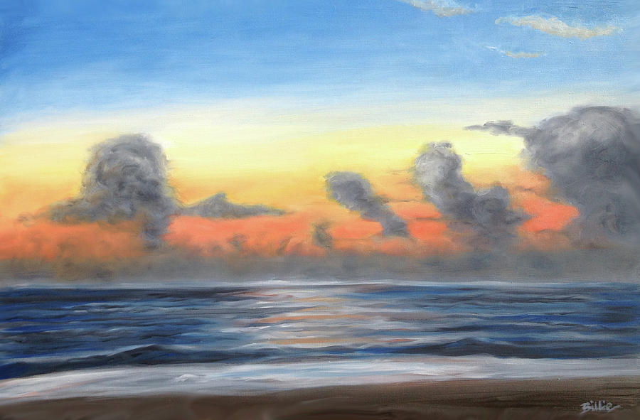 Outer Banks Painting - Moody Outer Banks Sunrise by Billie Mann
