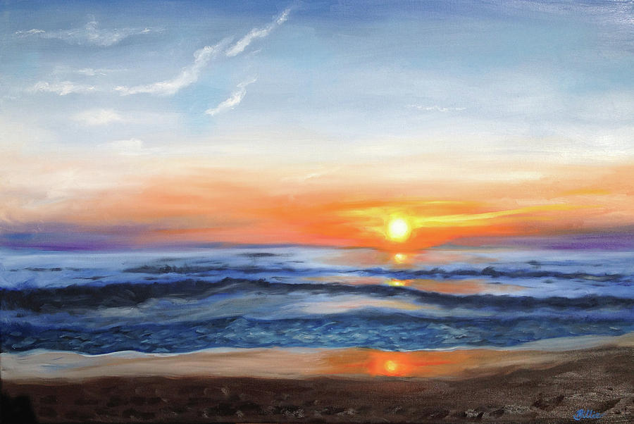 Seascapes Painting - Outer Banks Sunrise by Billie Mann