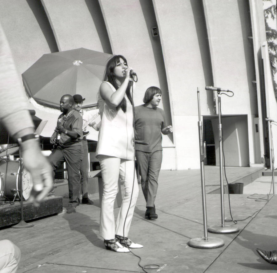 Sonny & Cher At Hollywood Bowl Photograph by Michael Ochs Archives