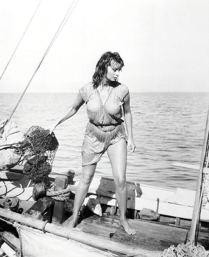 SOPHIA LOREN in BOY ON A DOLPHIN -1957-. Photograph by Album