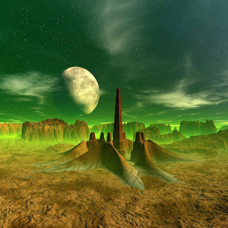 Space Colony, Artwork Digital Art by Mehau Kulyk
