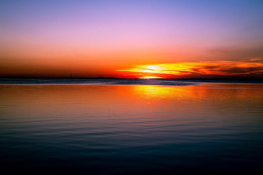 Bay Photograph - Spectacular Sunset by Ric Schafer