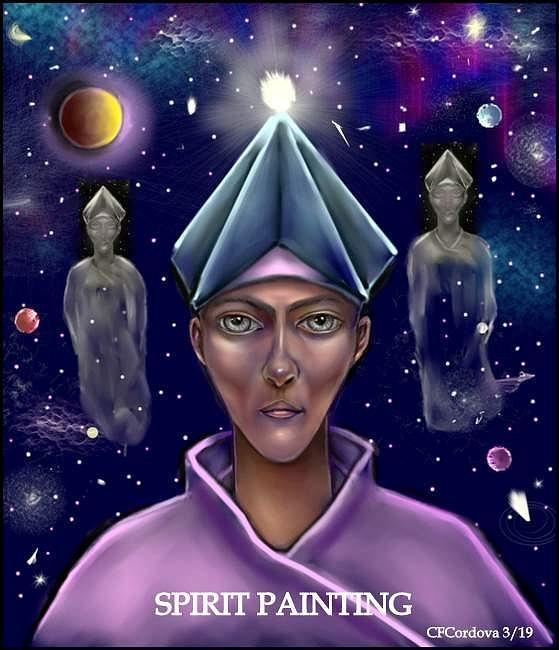 Spirit Painting by Carmen Cordova