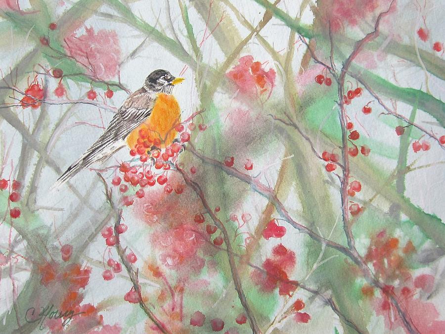 Spring Robin by Christine Kfoury