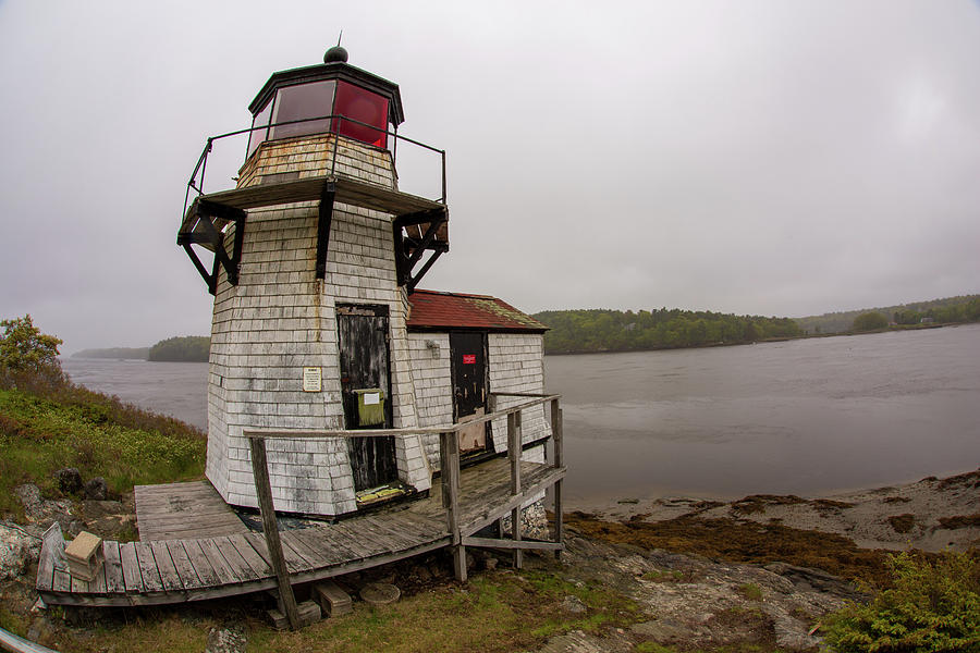 Squirrel Point Light in Arrowsic Maine by Kyle Lee