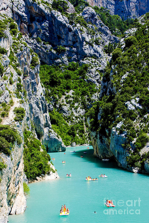 Activity Photograph - St Croix Lake, Les Gorges Du Verdon 1 by Richard Semik