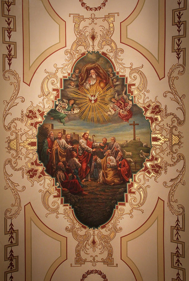 St. Louis Cathedral Ceiling Art - Paissez Mes Agneaux by Debi Dalio