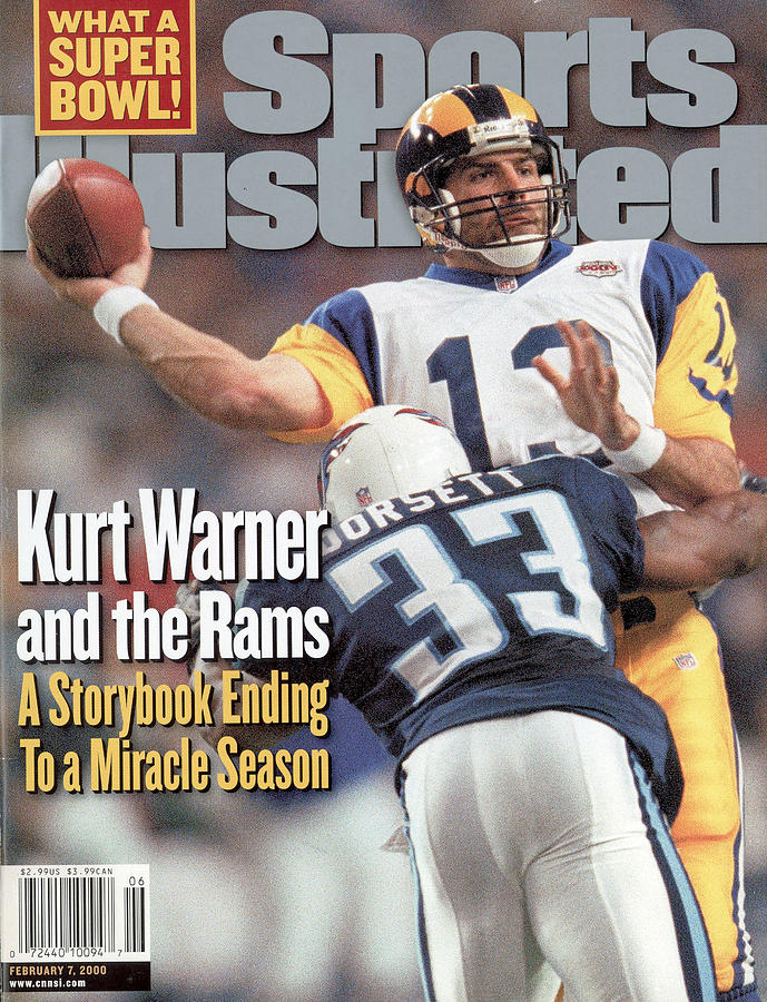 St. Louis Rams Qb Kurt Warner, Super Bowl Xxxiv Sports Illustrated Cover Photograph by Sports Illustrated