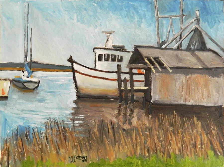 St. Mary Painting - St Marys Shrimp Boat by Robert Holewinski