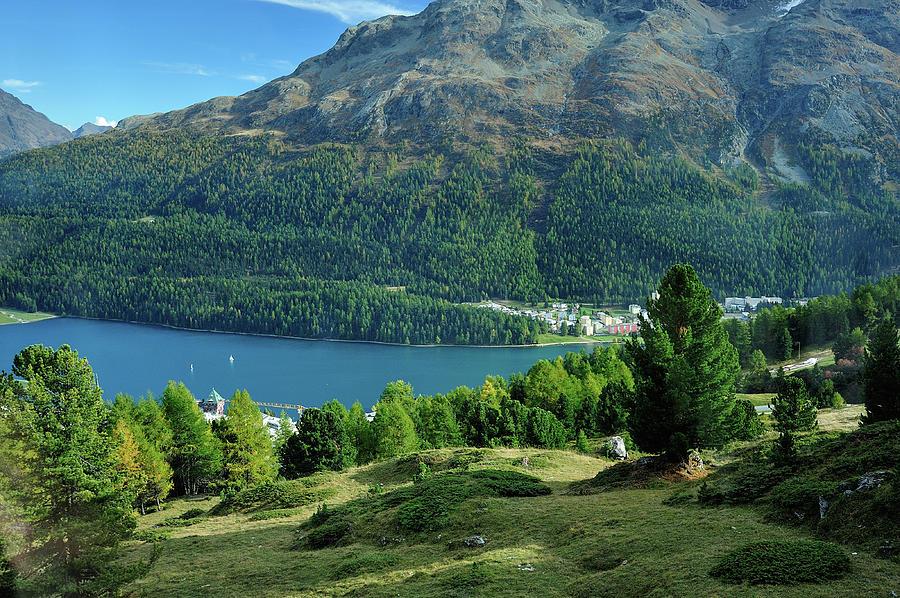 St. Moritz Lake Photograph by Miller Tseng