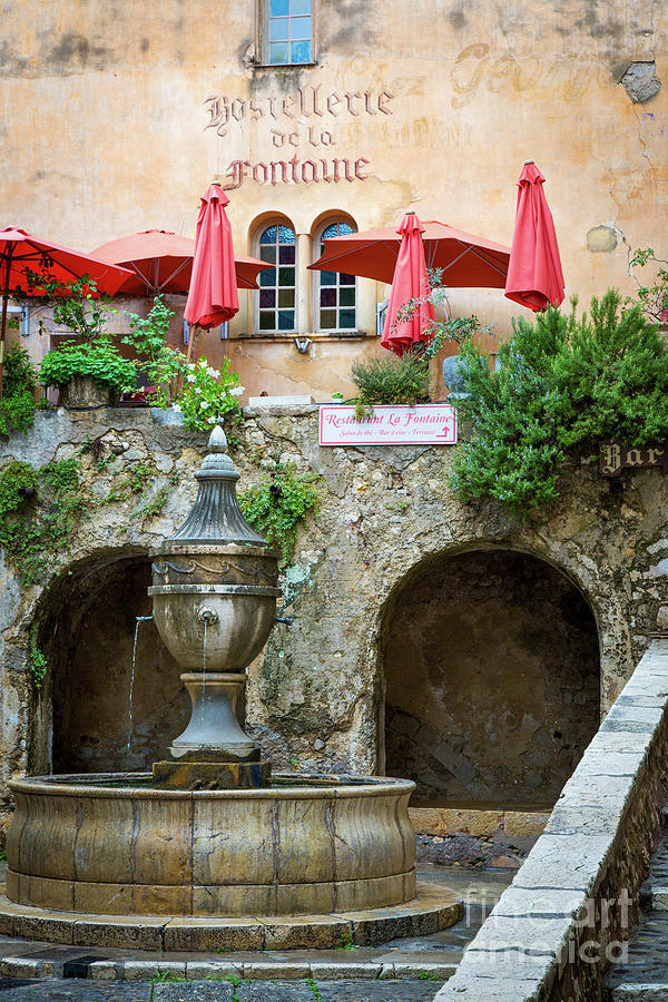 St Paul de Vence Fountain by Brian Jannsen