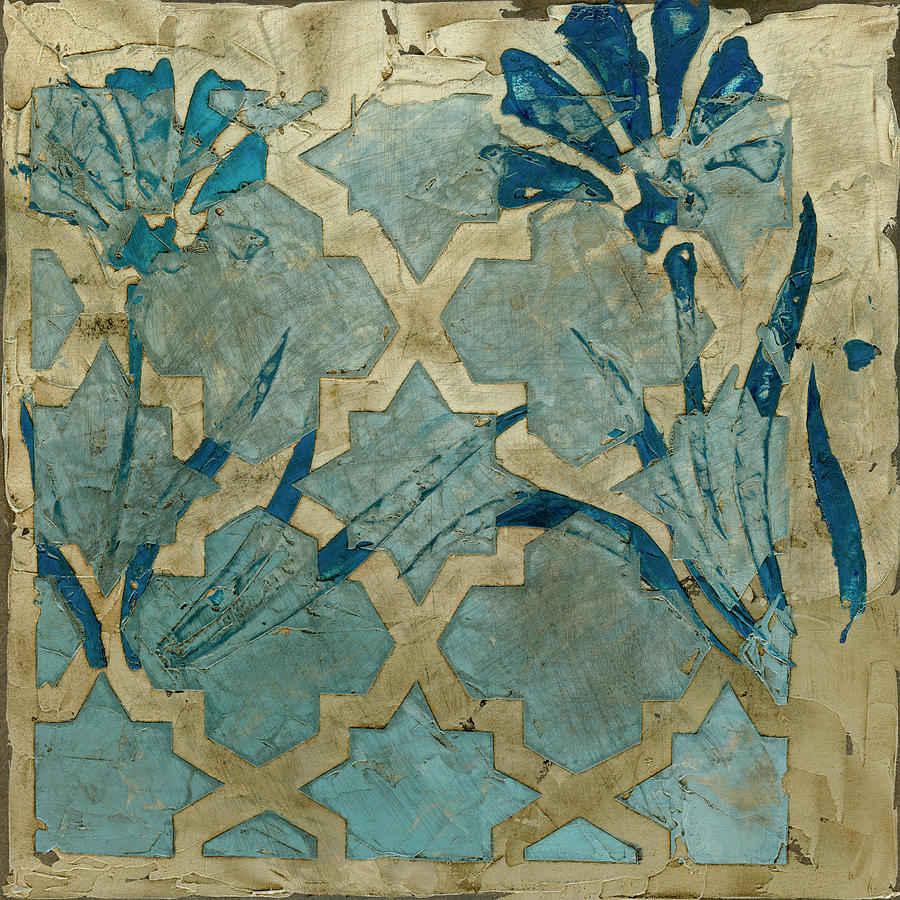 Decorative Painting - Stained Glass Indigo II by Megan Meagher