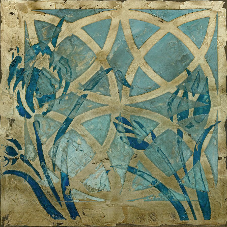 Decorative Painting - Stained Glass Indigo IIi by Megan Meagher