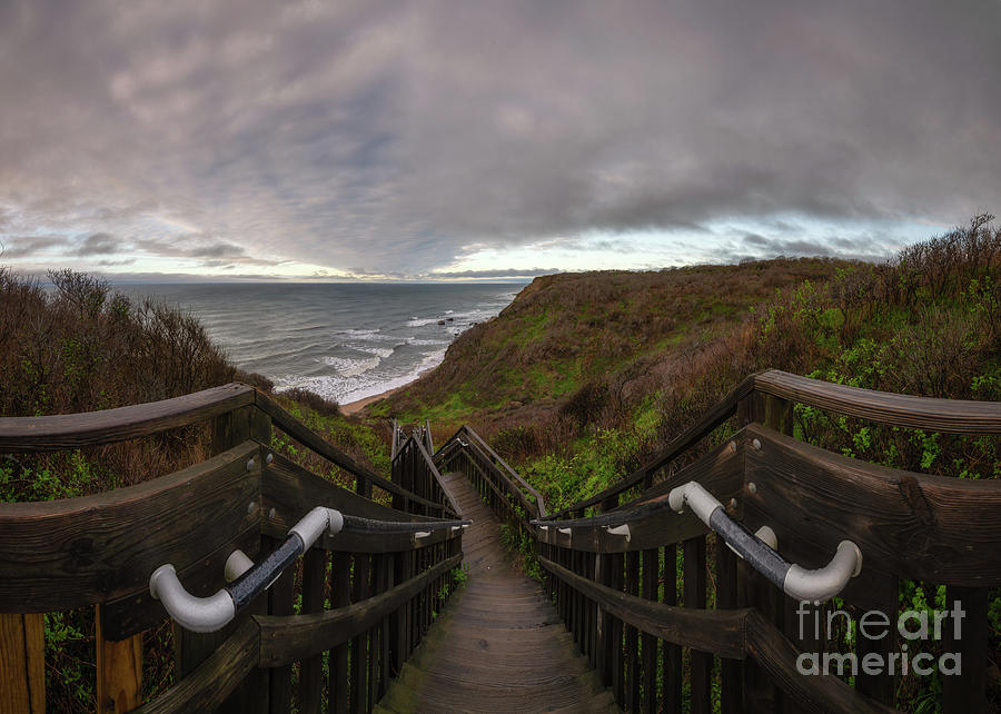 Mohegan Bluffs Photograph - Stairs To Bliss  by Michael Ver Sprill