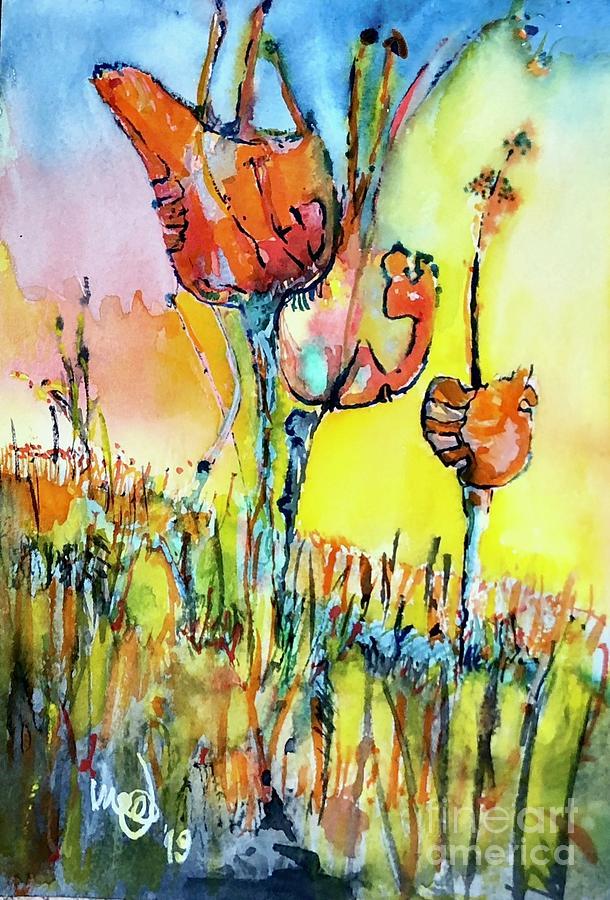 Stems Painting by Glen Garnett