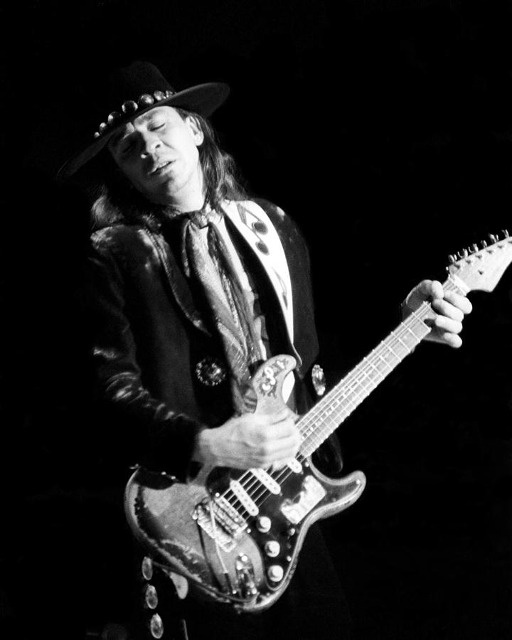 Stevie Ray Vaughn Live Photograph by Larry Hulst