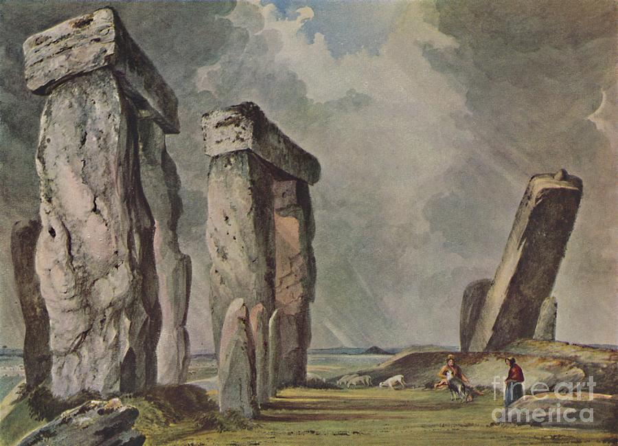 Stonehenge Drawing by Print Collector